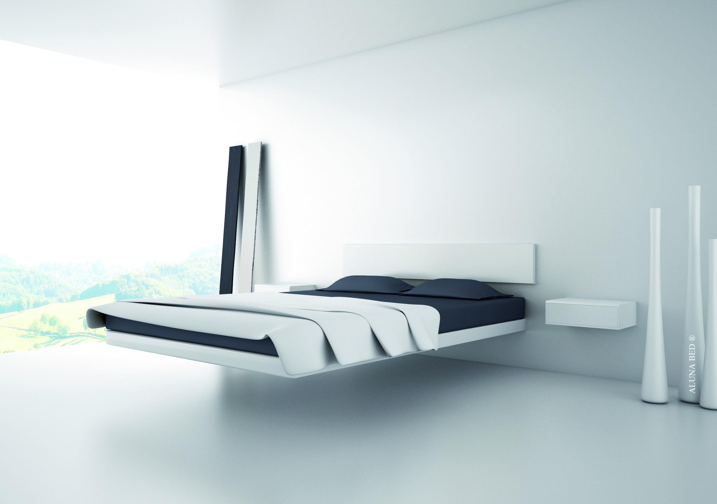 ALUNA BED by dolum RESERVED levitation bed lit flottant floating bed