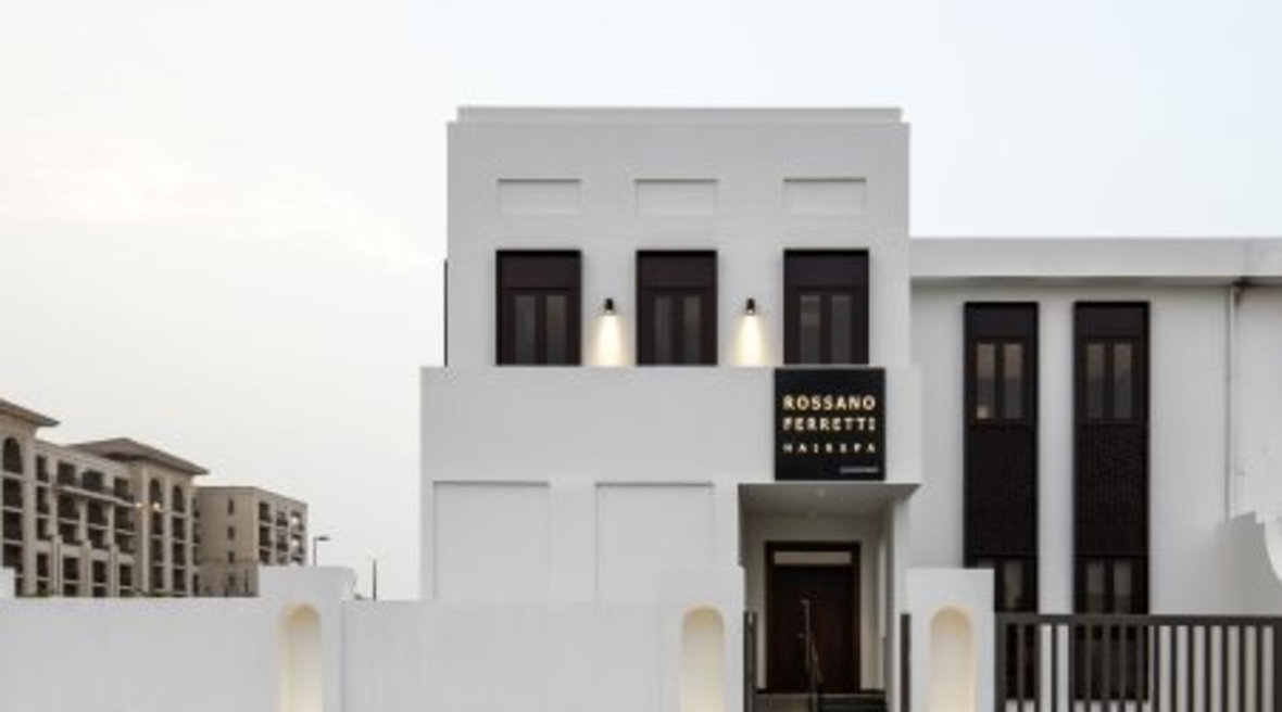 Anarchitect renovates 1970s Dubai villa for international hair salon Rossano Ferretti