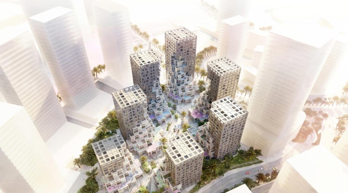 MVRDV designs mixed-use 'Pixel' development for Abu Dhabi's Makers District