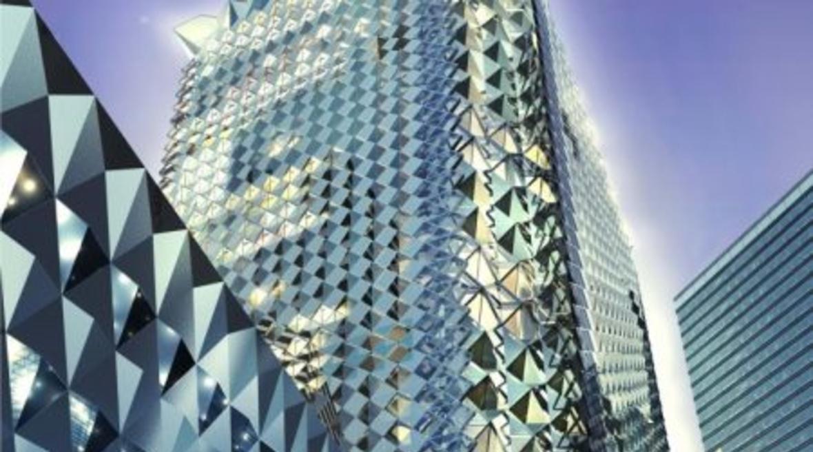 Foster + Partners designs a diamond-shaped tower for Samba bank's Riyadh headquarters