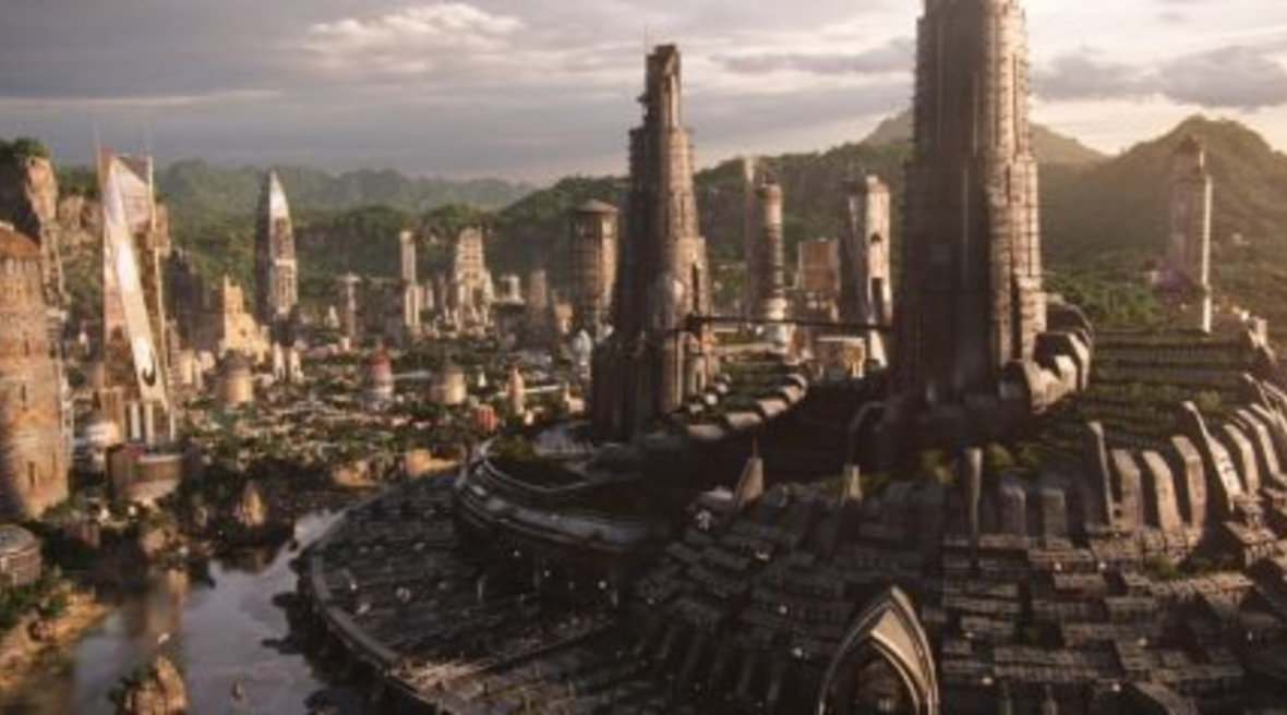 Black Panther's architectural sets were inspired by Zaha Hadid buildings, Afrofuturism and Buckingham Palace