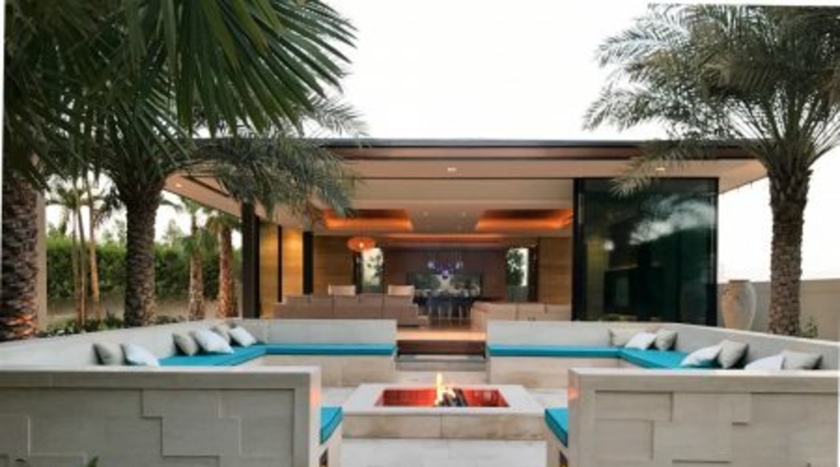 A garden majlis in Dubai is a contemporary interpretation of the traditional gathering space