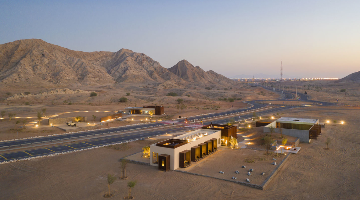 Anarchitect's newly completed lodge blends into Sharjah's desert landscape