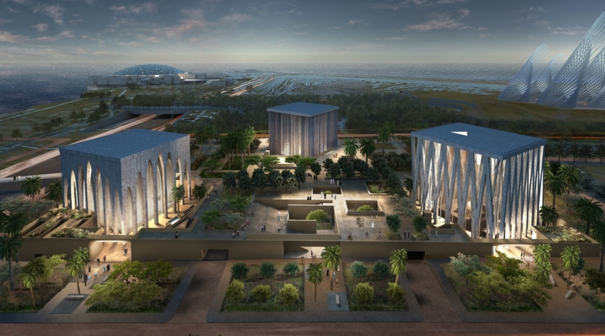 David Adjaye's design for Abrahmic Family House in Abu Dhabi sets a mosque, church and synagogue in a single plot