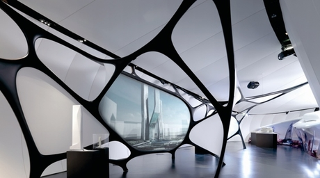 Zumtobel lighting at Zaha Hadid exhibition