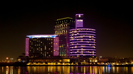 LEDs light global landmarks for breast cancer awareness