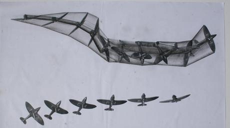 Sculpture mimicking plane mid-flight for Heathrow