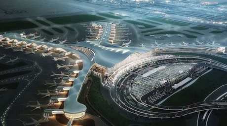 KPF-designed Midfield Terminal in Abu Dhabi delayed due to roof design