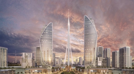 Foundation work completed on Calatrava-designed The Tower in Dubai