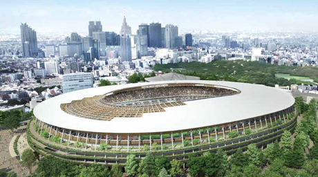 Petition urges end to using deforestation-led wood for Kengo Kuma's Olympic stadium