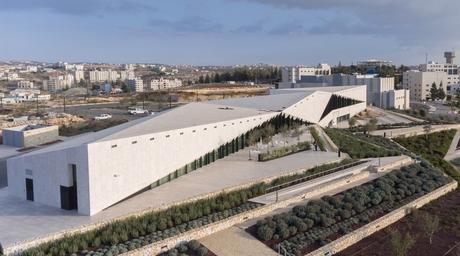 Irish architects complete limestone-clad Palestine Museum near Ramallah