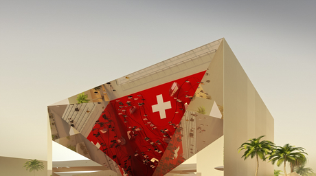 Bedouin tent structure revealed for Swiss Pavilion by OOS for Dubai Expo 2020