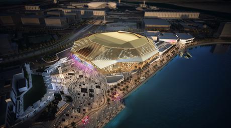 HOK unveils 'lantern facade' for multipurpose Yas Arena in Abu Dhabi