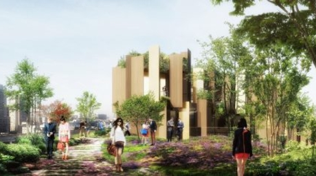 Kengo Kuma designs 'green lung' for Paris with eco-friendly hotel