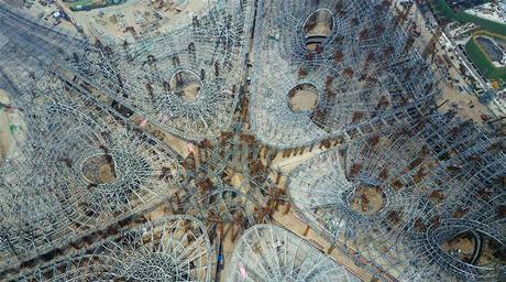 Images reveal ZHA's enormous Beijing terminal taking shape