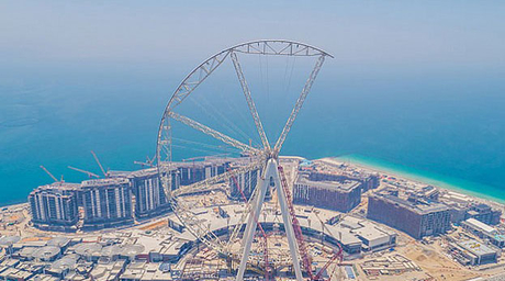 World's largest Ferris wheel crosses halfway mark in Dubai