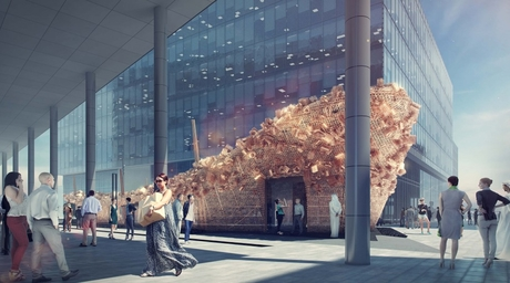 Fahed + Architects team up with waste management giant Bee'ah for this year's Abwab pavilion at Dubai Design Week
