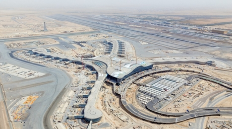 New under-construction images unveiled of KPF-designed Abu Dhabi airport