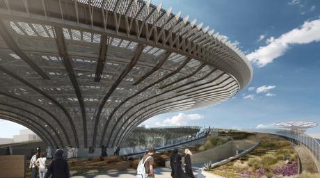 Video: Grimshaw's Sustainability Pavilion for Dubai Expo 2020 features 'solar trees'
