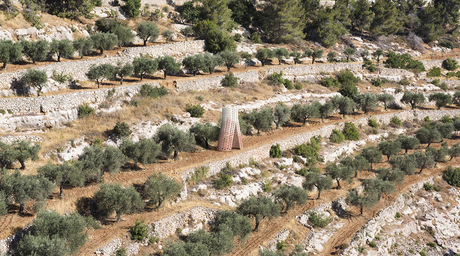 AAU Anastas creates stone installation as peaceful protest against separation wall in Palestine