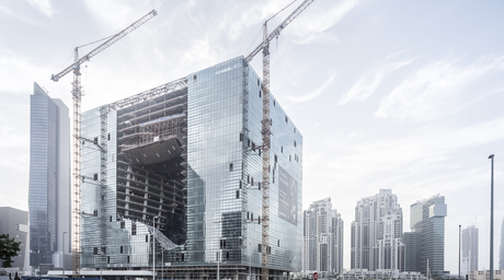 Photographer Aldo Amoretti captures Zaha Hadid's Opus tower taking shape in Dubai
