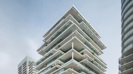 New images of Herzog & de Meuron's Beirut Terraces highlight the building's geometric forms