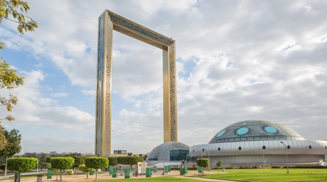 Dubai Frame features 4,000 square metres of locally manufactured Gaurdian Glass