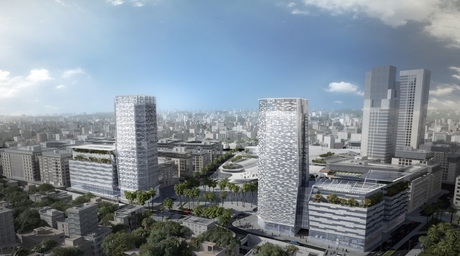 Completion announced for pixelated twin-tower Campbell Gray Living Amman Residences
