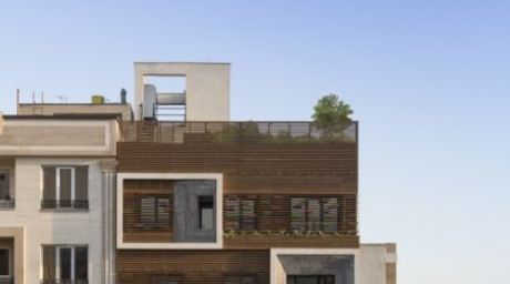A residential complex in Tehran was inspired by a window design in traditional Iranian architecture