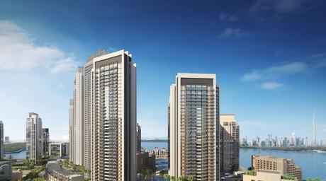 Emaar Creek Horizon development by SSH reaches podium level