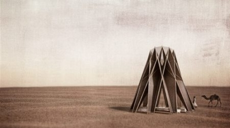 Bedouin-inspired 'Nomad Pavilion' designed to create shelter and collect water in Jordanian desert