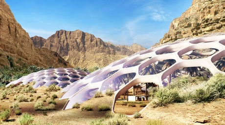 Baharash Architecture designs wildlife conservation centre featuring self-sustaining biodomes