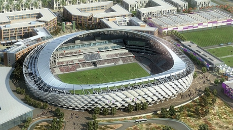Architects designing football stadiums in the Middle East must match global efforts