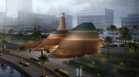 """X-Architects'""""avant-garde"""" design for Abu Dhabi is a reinterpretation of traditional mosque architecture"""