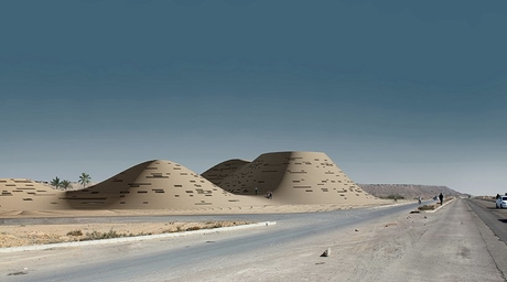 Hajizadeh & Associates' cultural complex in Iran is designed to be part of the surrounding landscape