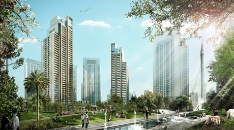 Foundations being set for SSH-designed Harbour Gate Project by Emaar