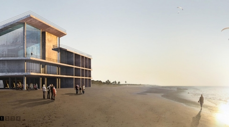 Hajizadeh & Associates designs a concept for a boatman's clubhouse along Iran's Caspian Sea coastline