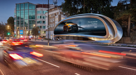 Zaha Hadid Design completes billboard sculpture in London