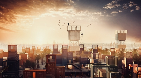 Shortlisted for two 2018 WAF Awards, urban development concept Sheltainer looks to solve Cairo's cemetery housing phenomenon