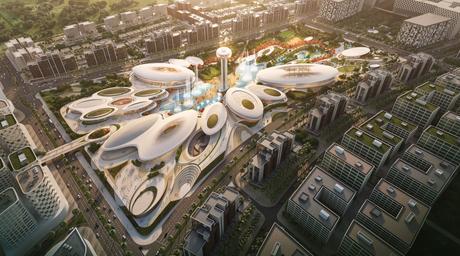 Zaha Hadid Architects-designed Central Hub masterplan for Aljada development revealed at Cityscape