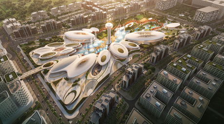 Zaha Hadid Architects-designed Central Hub masterplan for Aljada development revealed at Cityscape
