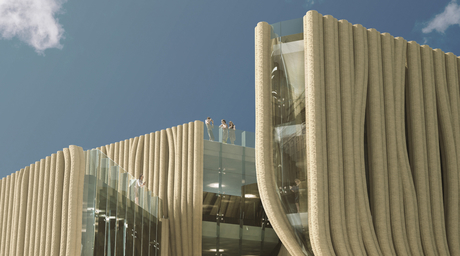 NYXO reveals design proposal for a 3D-printed Baghdad Design Centre