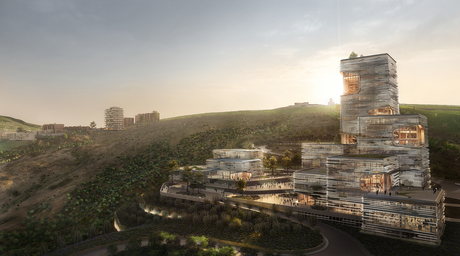 UNStudio designs interactive financial centre for Tbilisi bank inspired by traditional Georgian architecture