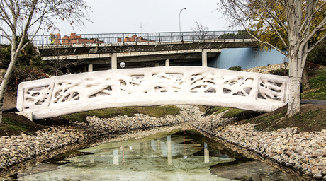 Madrid completes world's first 3D-printed bridge