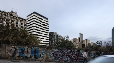 A mixed-use project in Beirut by Paralx reflects Lebanon's mountainous terrain