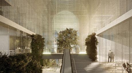 Dodi Moss' proposal for Italy's Expo 2020 Dubai pavilion features transparent metal mesh structure
