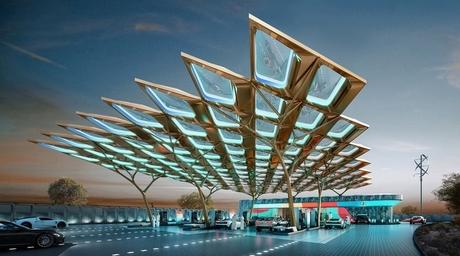 Aedas unveils solar-powered ENOC service station for Expo 2020 Dubai