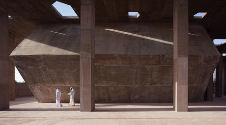Valerio Olgiati creates a concrete canopy as entrance to Bahrain's Pearling Path