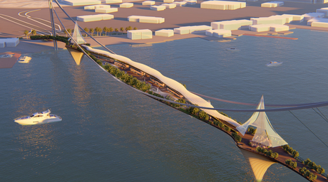 LWK+PARTNERS designs bridge for Dubai inspired by Hanging Gardens of Babylon