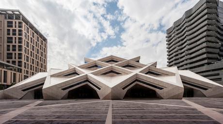 Images of Omrania's completed KAFD Grand Mosque in Riyadh, Saudi Arabia